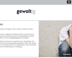 Gewaltberatung - Tablet Version